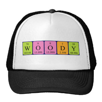 Woody periodic table name hat