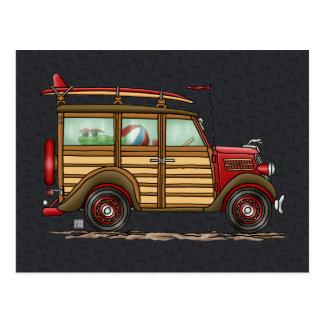 Woody que practica surf lindo tarjetas postales