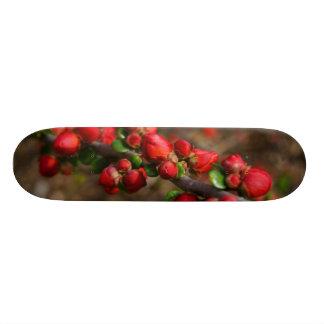 Woody Red Blooms Skateboard Deck