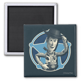 Woody: Sheriff Badge 2 Inch Square Magnet