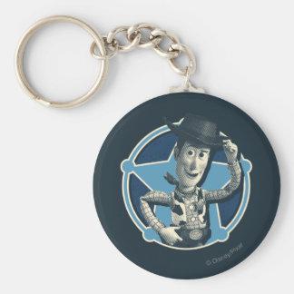Woody: Sheriff Badge Basic Round Button Keychain