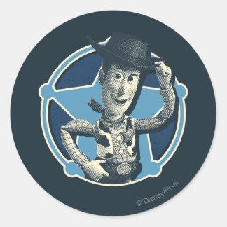 Woody: Sheriff Badge Classic Round Sticker