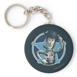 Woody: Sheriff Badge Keychain