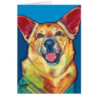 Woody the Therapy Dog Note Card by Ron Burns