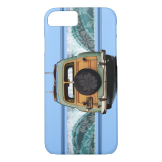 Woody Wave Hawaiian Surf Illustration iPhone 8/7 Case