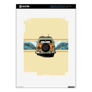 Woody Wave Surfer iPad 3 or Tablet Skin Decals For iPad 3