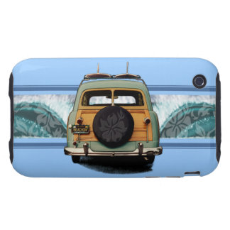Woody Wave Surfer iPhone 3 Tough Cases