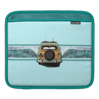 Woody Wave Surfer Rickshaw iPad Case Sleeves For iPads