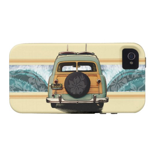 Woody Wave Surfer Vibe iPhone 4 Case