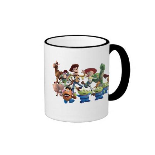 Woody y amigos taza de dos colores