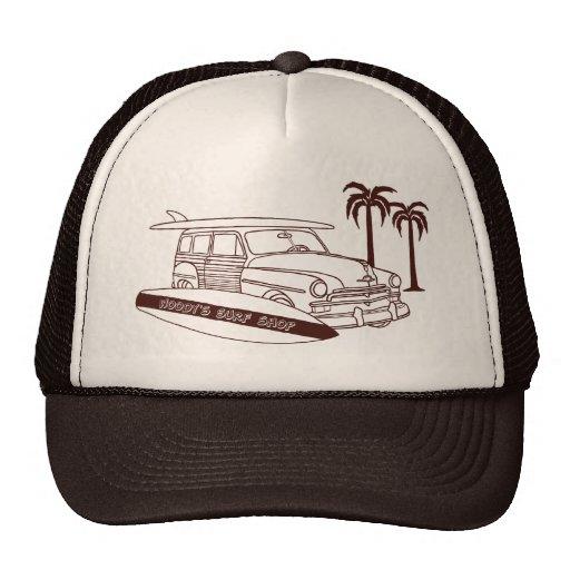 Woody's Surf Shop Trucker Hats