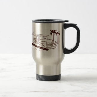 Woody's Surf Shop 15 Oz Stainless Steel Travel Mug