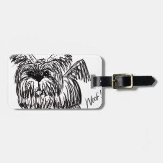 Woof A Dust Mop Dog Luggage Tag