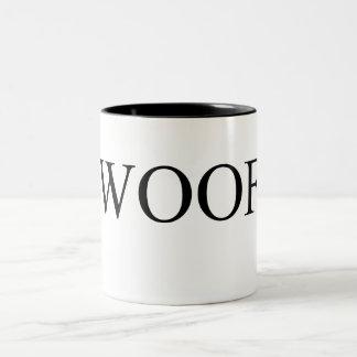 Woof black Two-Tone coffee mug