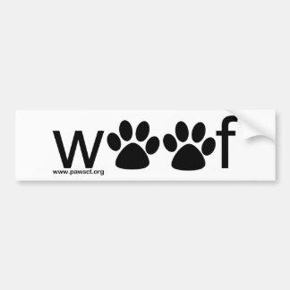 Woof Bumper Sticker