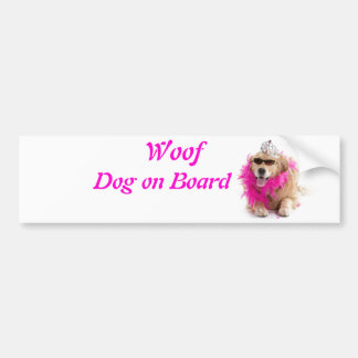 Woof, Collection Postcards, Cards, Badges, Bumper Bumper Sticker