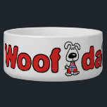 "Woof Dah Dog Bowl<br><div class=""desc"">Woof Dah dog bowl -- translation Uffda -- perfect for any Scandinavian with a pet</div>"