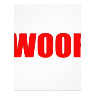 WOOF DOG animal lover bark fun geek vegan language Custom Letterhead