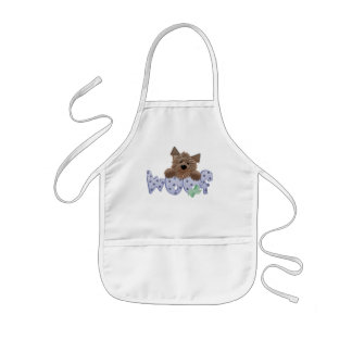 Woof Dog Blue Tshirts and Gifts Apron