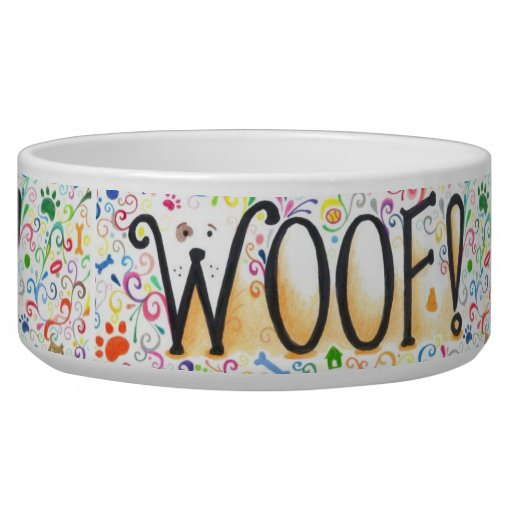 Woof Dog Bowl Zazzle