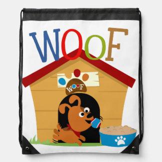 Woof Dog Drawstring Backpack