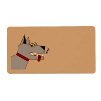 Woof dog personalized shipping labels