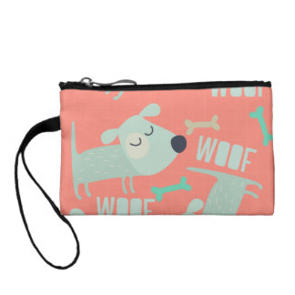 Woof Dogs and Bones Coin Wallet