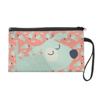 Woof Dogs and Bones Wristlet Clutch