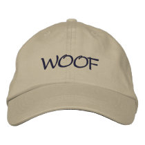 WOOF EMBROIDERED BASEBALL HAT