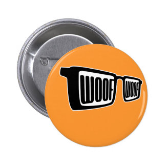 Woof Goggles Pinback Button