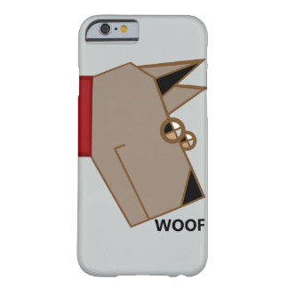 woof graphic art dog barely there iPhone 6 case