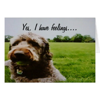 WOOF, HOWL, WHIMPER=I MISS YOU GREETING CARDS