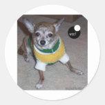 woof-Lady.jpg Round Sticker