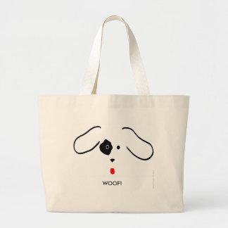 Woof! Large Tote Bag