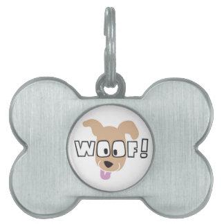 WOOF! Logo Merchandise Pet Name Tag