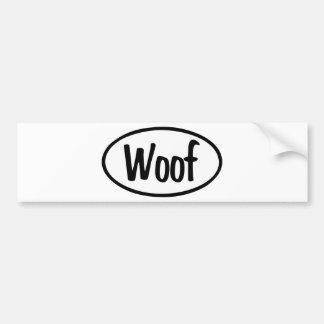 Woof Oval Bumper Sticker
