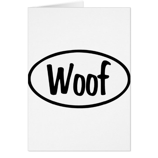 Woof Oval Card