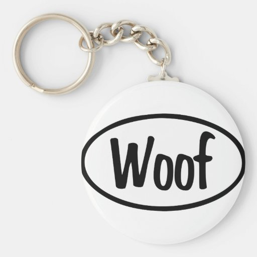 Woof Oval Key Chains