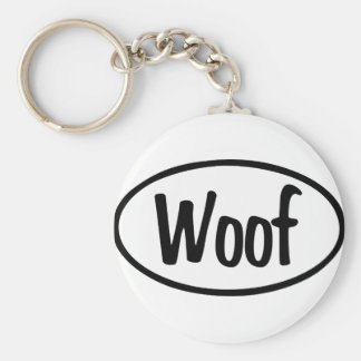 Woof Oval Keychain