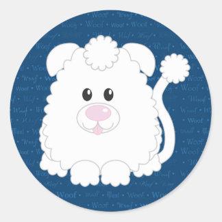 Woof Poodle Dog Sticker