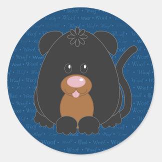 Woof Rotweiller Dog Sticker