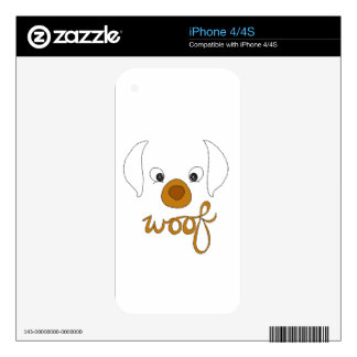 Woof Said the Puppy Skins For iPhone 4S