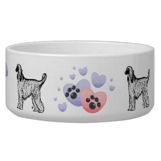 Woof Woof Afghan Hound Bowl