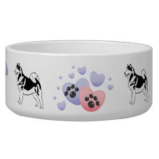 Woof Woof Alaskan Malamutes Dog Bowls