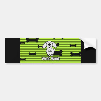 Woof Woof Doggy Bumper Sticker