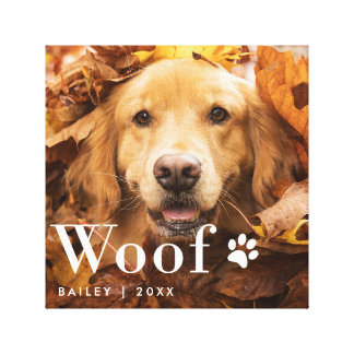 Woof | Your Dog's Photo and a Paw Print