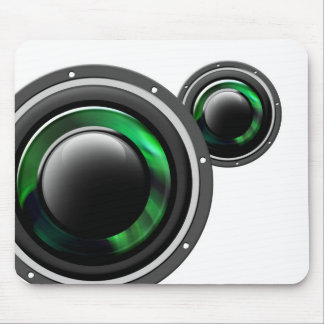 Woofer music mouse pad