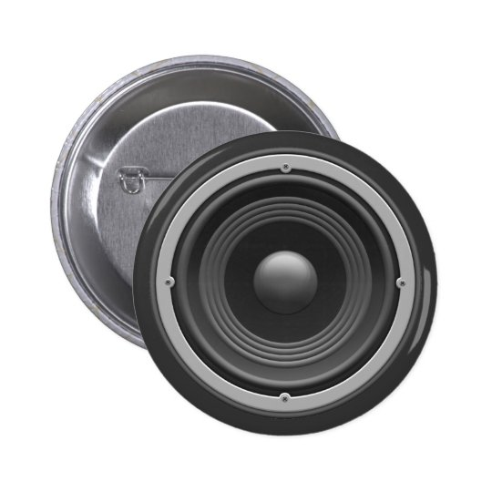 Woofer Pinback Button