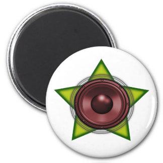 Woofer Rasta star Dub Reggae Dubstep Magnet