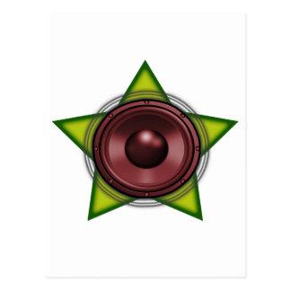 Woofer Rasta star Dub Reggae Dubstep Postcard